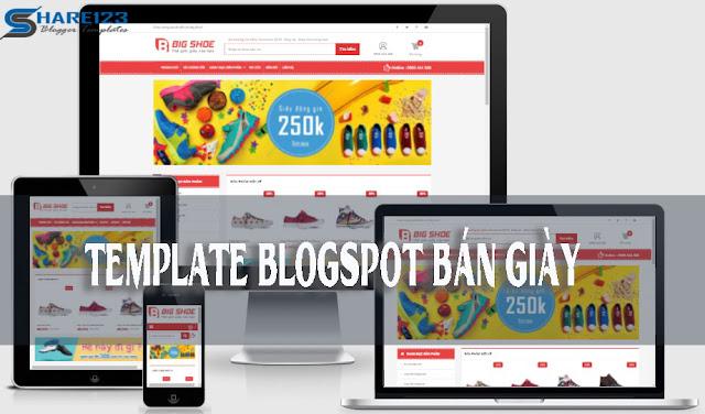 Template blogspot bán giày đẹp chuẩn seo
