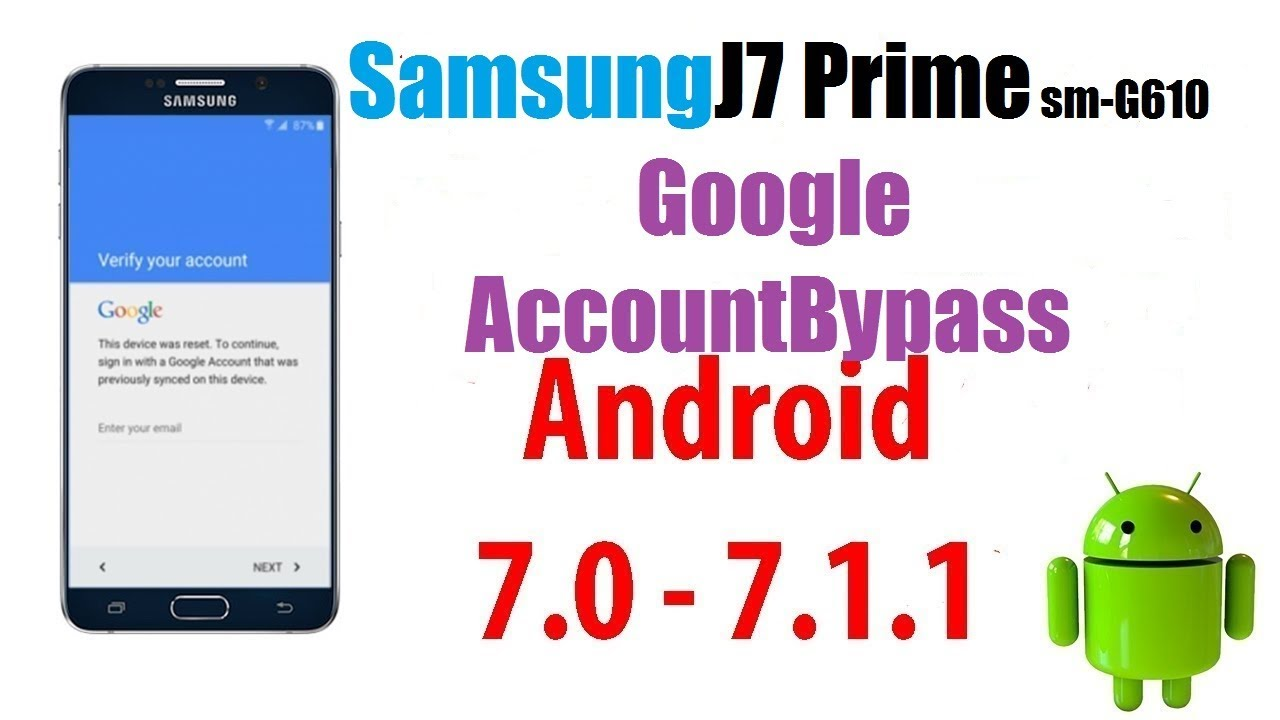 Samsung J7 Prime Android Nougat 7 0 Frp Remove ••▷ SFB