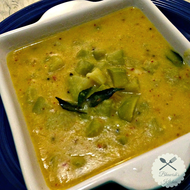 Chow Chow Kootu | Chayote Dal Curry
