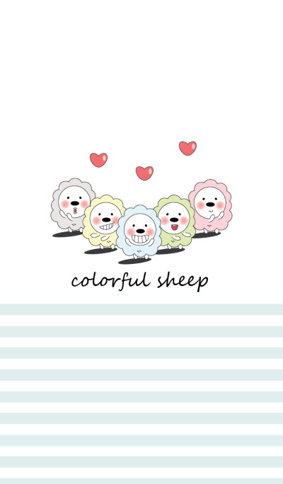 Fluffy & Colorful Sheep