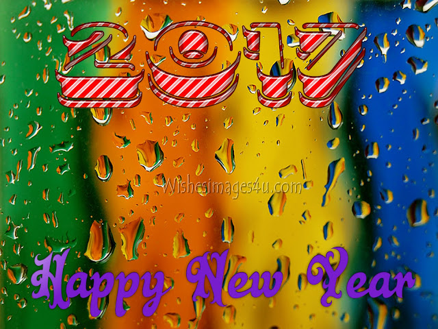Happy New Year 2017 3D Background For Desktop/PC