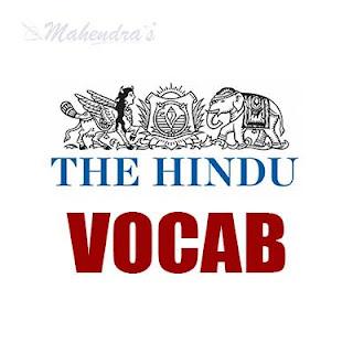 The Hindu Vocabulary ( IBPS Clerk Based)   30 -11 - 17