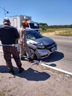 Duas adolescentes são atropeladas na RJ 140 próximo a Vila Industrial