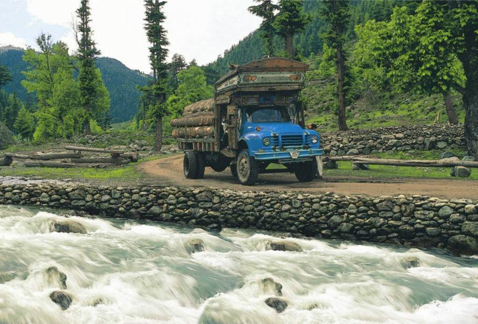 Road from Kalam to Utror, Swat Valley, Pakistan