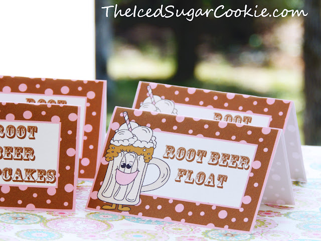 Root Beer Float Birthday Party Food Lable Tent Cards-Root Beer Float Social-DIY Birthday Party Ideas-Printable Digital Download-Cutout Template by The Iced Sugar Cookie