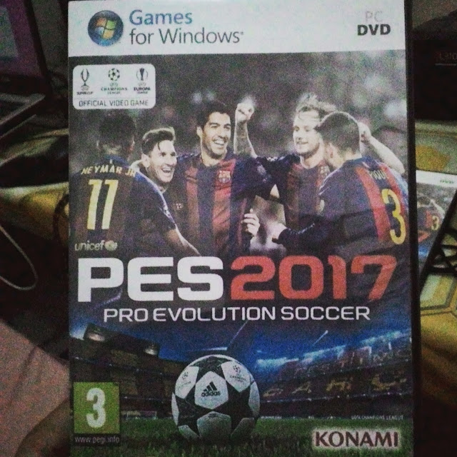 READY STOCK!! DVD PES 2017 FULL CRACK + NEW PATCH 2017/18