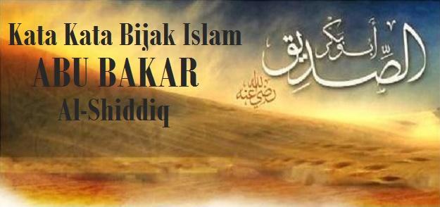 kata bijak islam abu bakar
