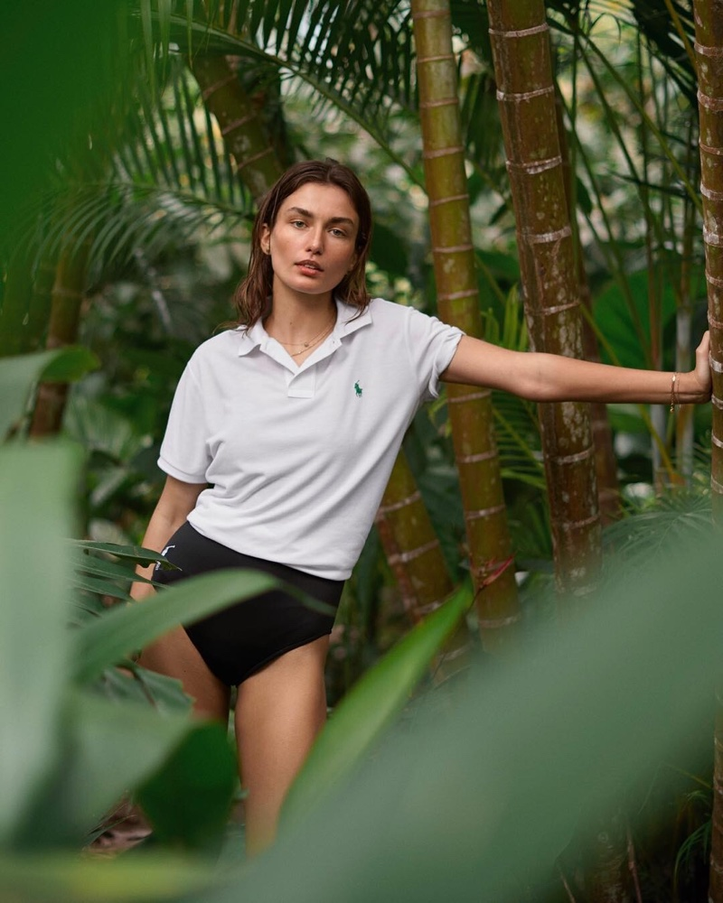 Andreea Diaconu is A Natural Beauty in Ralph Lauren's Sustainable Polo