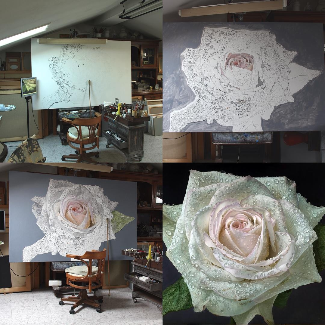 02-Gioacchino-Passini-Realistic-Paintings-of-Flowers-and-Roses-www-designstack-co