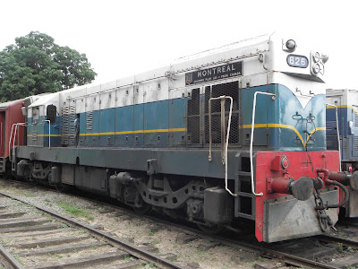 "Class M2 General Motors EMD locomotive No 626 ""Montreal"" at Peradeniya"