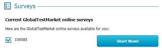 Surveys available on GTM