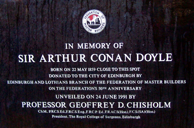 Edinburgh plaque in memory of Arthur Conan Doyle