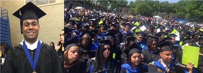 Superando trauma de la orfandad, joven dominicano se gradúa en dos carreras en Lehman College