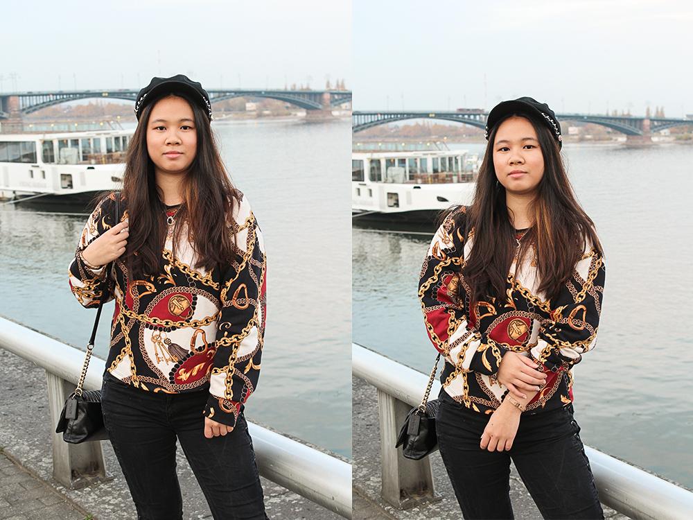 Schalprints auf Pullover von Zara