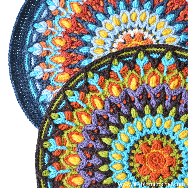 Spanish mandala in overlay crochet technique. Original design by Lilla Bjorn Crochet