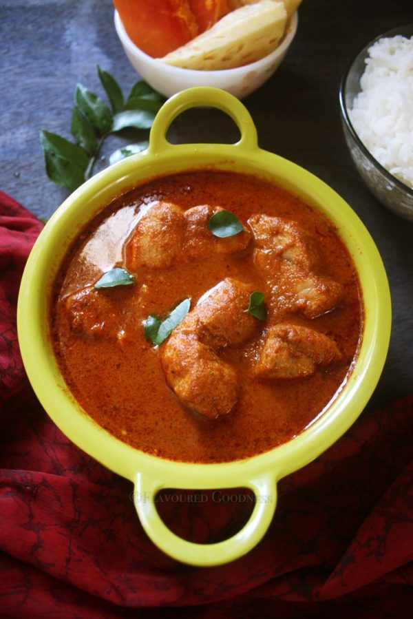 how to make Kerala Style Red Fish Curry with Coconut  Meen Vevichathu