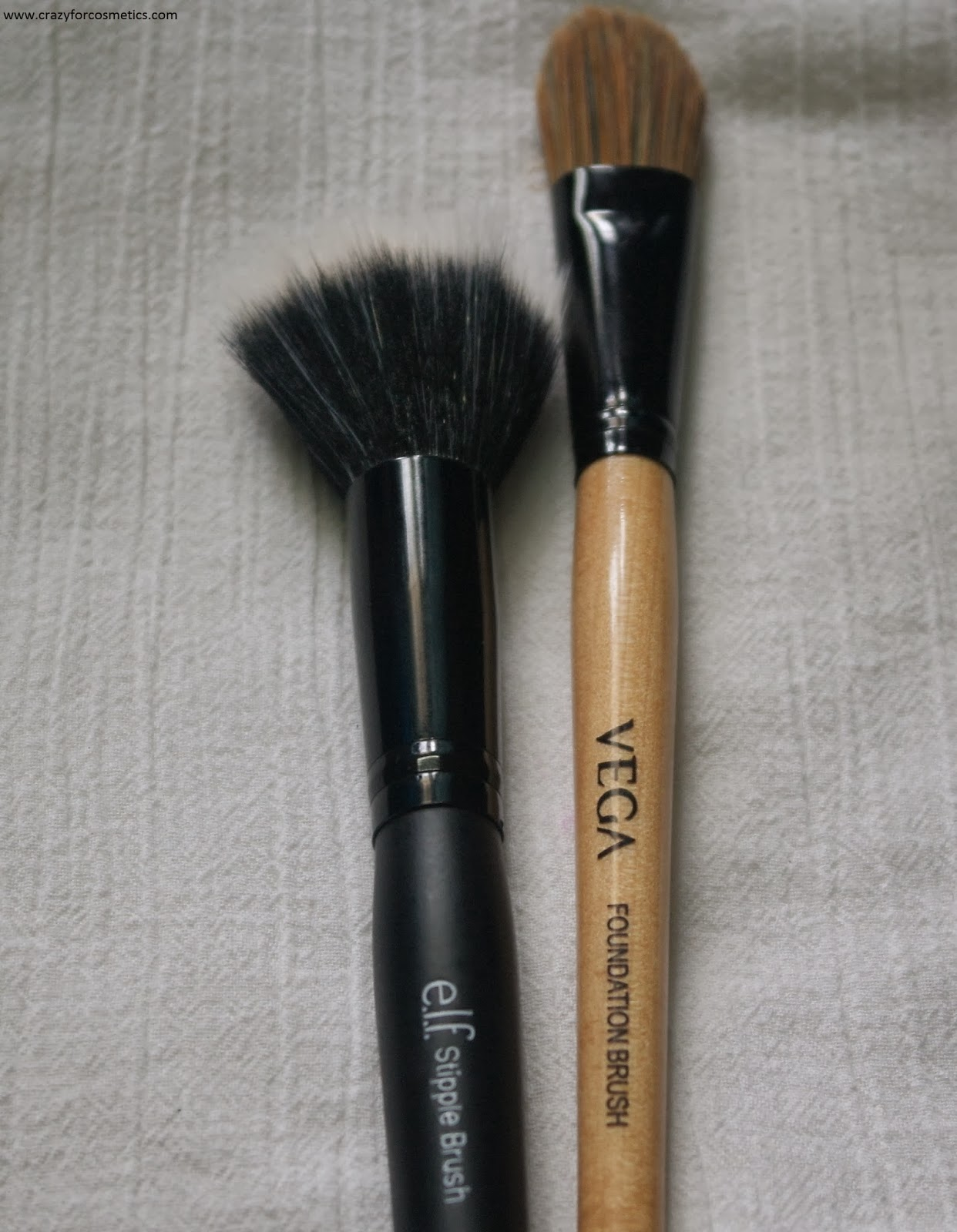 Foundation Brush: ELF Stipple Brush Review, Technique To Create Airbrushed