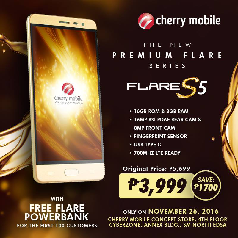 Super Sale Alert: Cherry Mobile Flare S5 Is Priced At PHP 3999 For One Day Only!