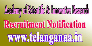 ACSIR (Academy of Scientific & Innovative Research) Recruitment Notification 2016