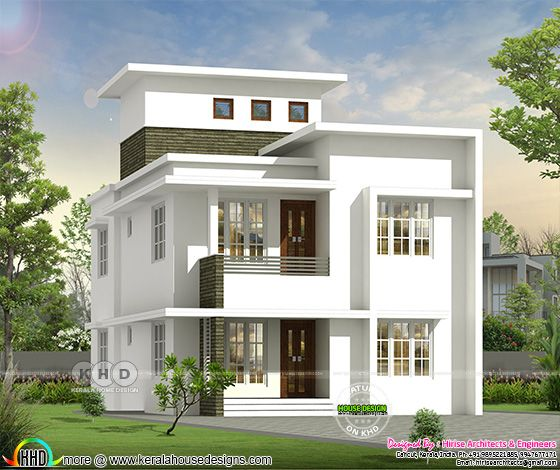 1700 square feet villa style small Kerala home design
