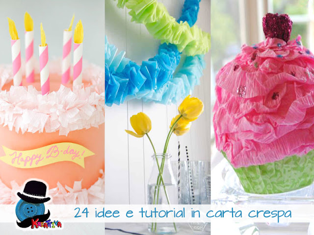 24 idee e tutorial in carta crespa kreattivablog - Carta crespa decorazioni ...
