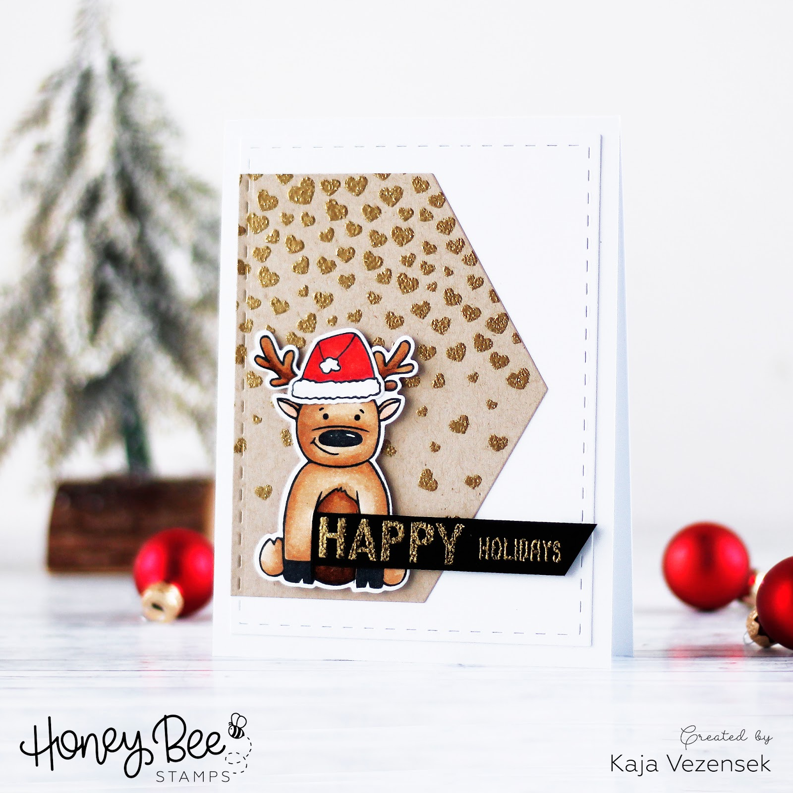 Heat embossing with stencil | HONEY BEE