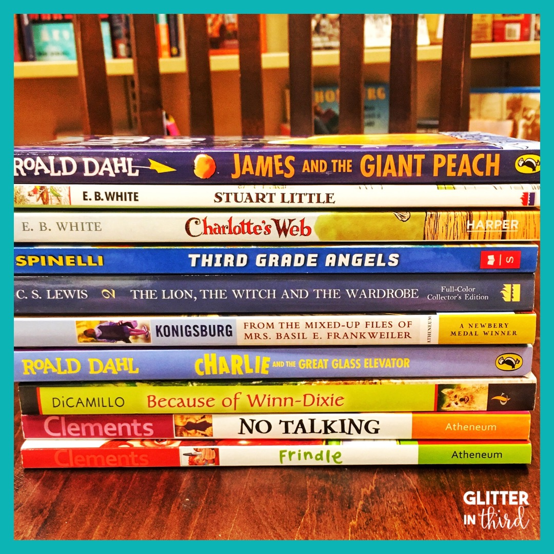 Literature circle books for 3rd-grade - Glitter in Third [ 1080 x 1080 Pixel ]