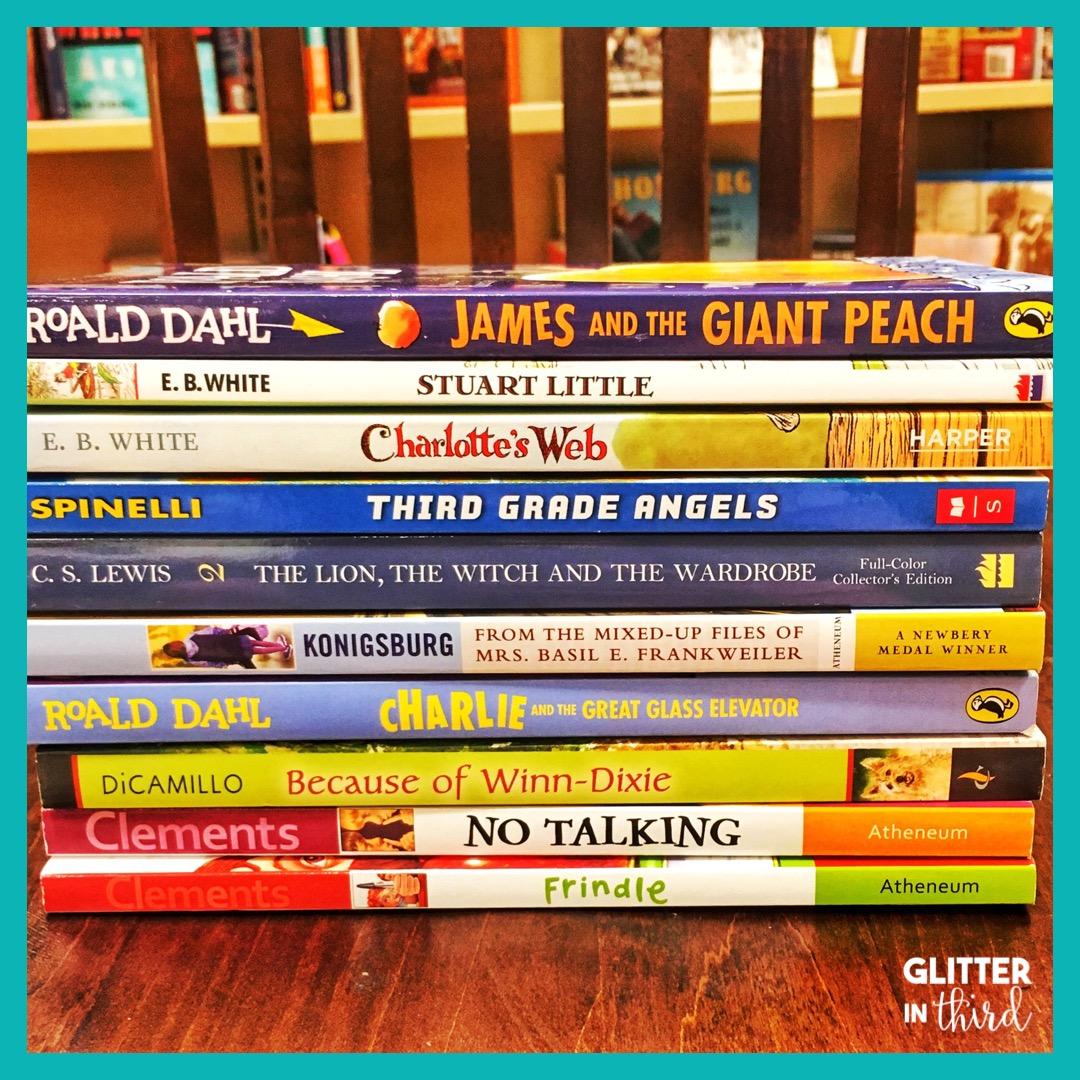 medium resolution of Literature circle books for 3rd-grade - Glitter in Third