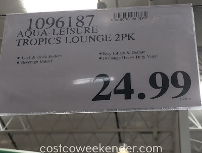 Deal for the Aqua-Leiser Oceans 7 Tropics Lounge (2 pack) at Costco