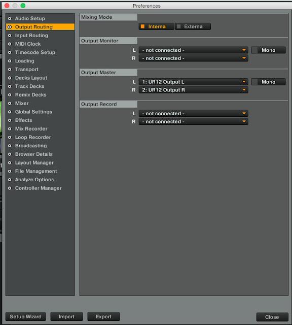 Configurar Output Routing