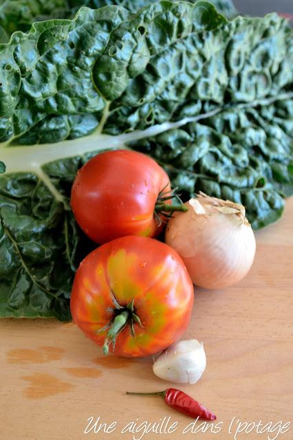 blettes tomates chorizo