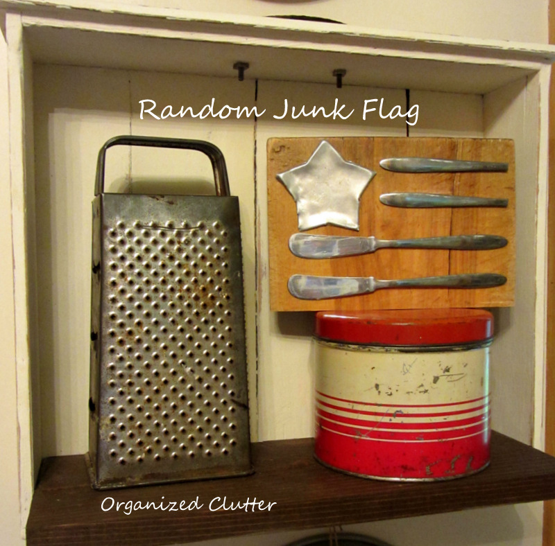 Cutting Board Kitchen Junk Flag www.organizedclutterqueen.blogspot.com