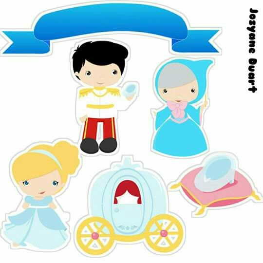 Cinderella Baby Free Printable Cake Toppers.