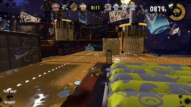 Splatoon 2 Splatfest Family Friends Golden Shower gold ink Shifty Station Dozer Flooders