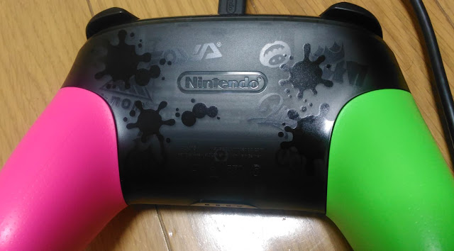Nintendo Switch Proコントローラー スプラトゥーン2底面