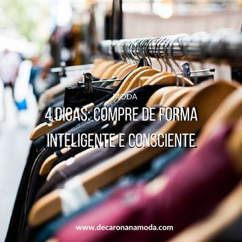 Compre de forma inteligente e consciente - 4 dicas