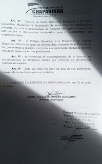 Lei da Ficha Limpa Municipal / Chapadinha (MA) pág 2