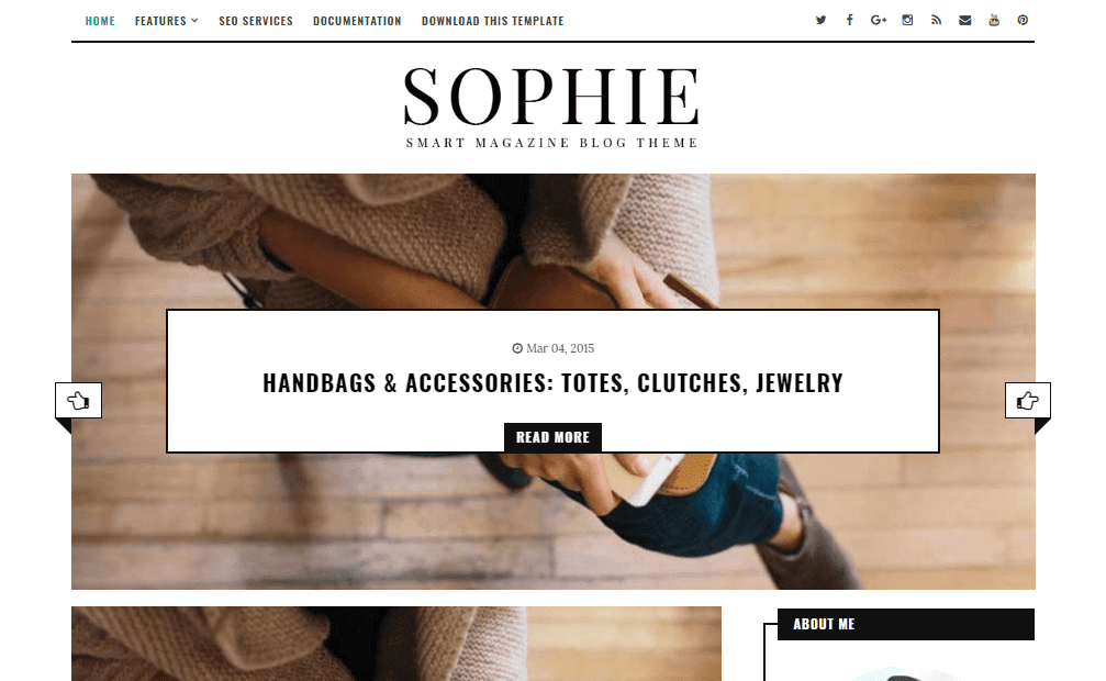 Sophie Minimal Blogger template