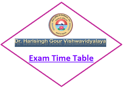 DHSGSU Odd Sem Time Table 2019
