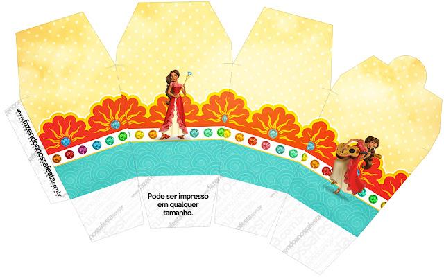 """Caja tipo """"de comida china""""de Elena de Avalor."""