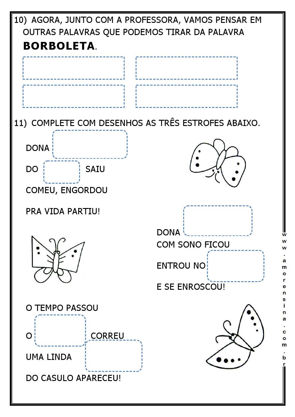 Top LAGARLETA - ( DE LAGARTA A BORBOLETA) - INTERDISCIPLINAR - 1º ANO  UY05