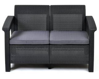 Keter Corfu Love Seat Outdoor Love Seat