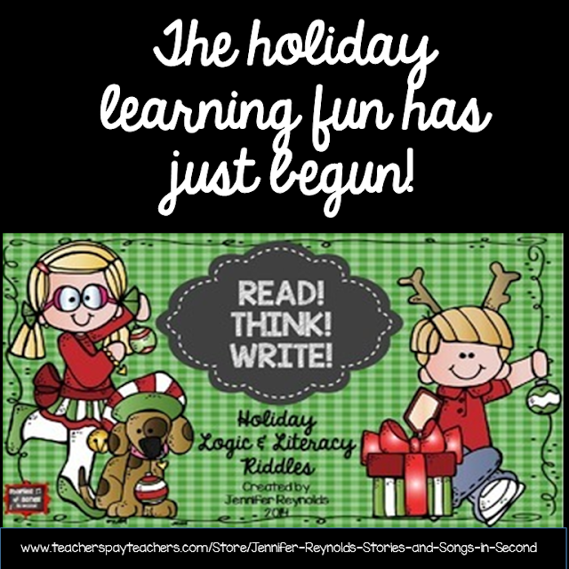 Students will love using picture clues and riddles to solve the literacy and logic puzzlers in this holiday activity pack! They will also enjoy reading and writing their own festive riddles for friends to solve!