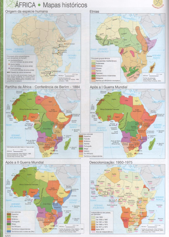 ÁFRICA, MAPAS HISTÓRICOS DA ÁFRICA