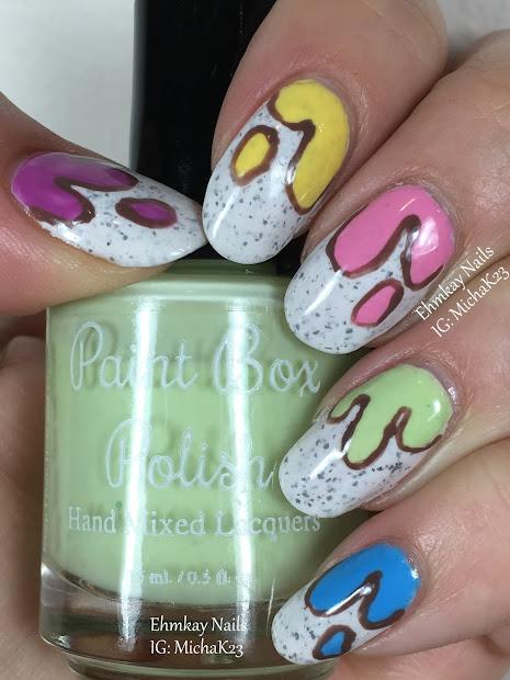 ehmkay nails ice cream drip nail