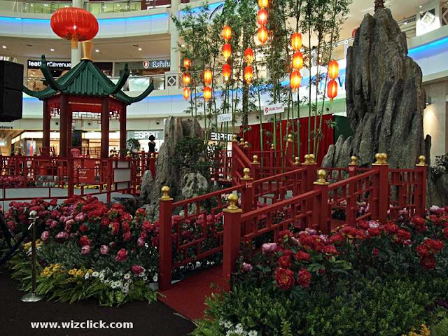 A rock garden in the center court of The Curve Mall 2013 Chinese New Year Decoration.