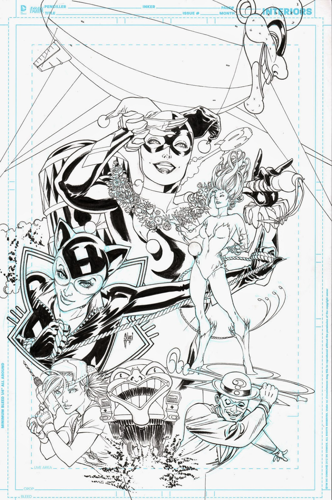 GOTHAM CITY SIRENS TPB cover process by Guillem March