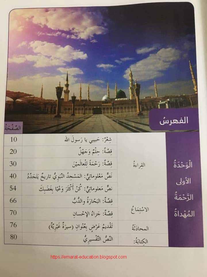 كتاب اللغة العربية للصف السادس الفصل الاول 2020 - مناهج الامارات