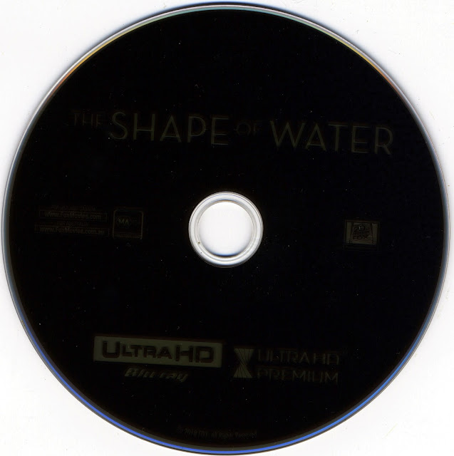 The Shape Of Water 4K Bluray Label