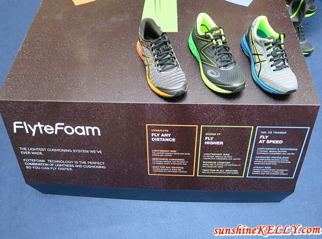 ASICS New FlyteFoam Fast Series - Noosa FF, gel-DS Trainer 22 and Dynaflyte  & ASICS Pace Academy on Runkeeper